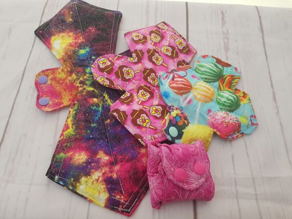 collection of cloth pads